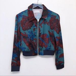 Urban Outfitters | Palm Print Cropped Bomber